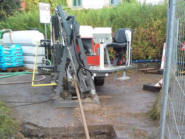 Horizontalbohranlage im Einsatz, HDD machine on work © TERRA AG, Reiden, Switzerland