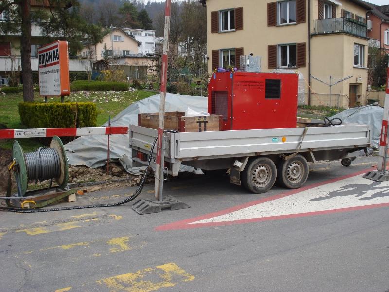 Berstlining Aggregat, cable burster power pack© TERRA AG, Reiden, Switzerland