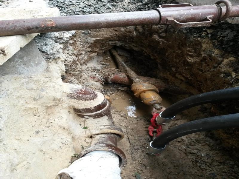Schutzrohre  nach dem Einzug, HDPE pipes after pipe pulling  © TERRA AG, Reiden, Switzerland
