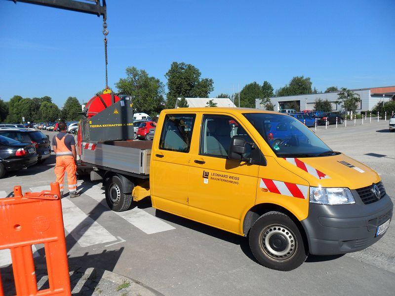 Automatische Seiltrommel wird abgeladen© TERRA AG, Reiden, Switzerland