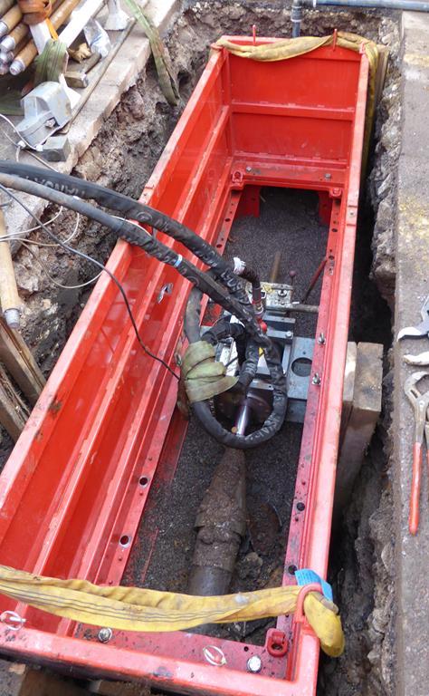 Rohreinzug bis in die Grube