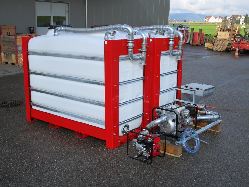 Modularer Tankaufbau mit 4000 ltr oder 2x 4000 ltr