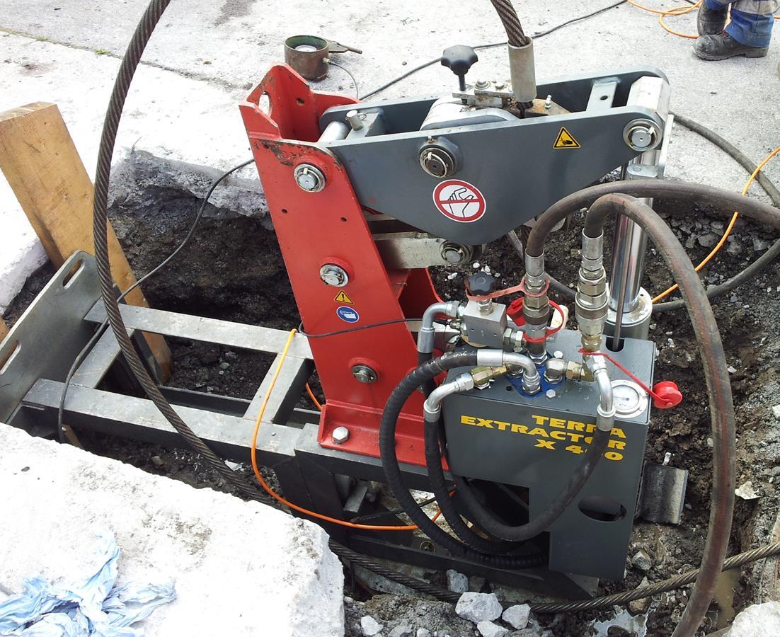 Grubeneinsatz, Rohreinzug bis in den Arbeitsbereich