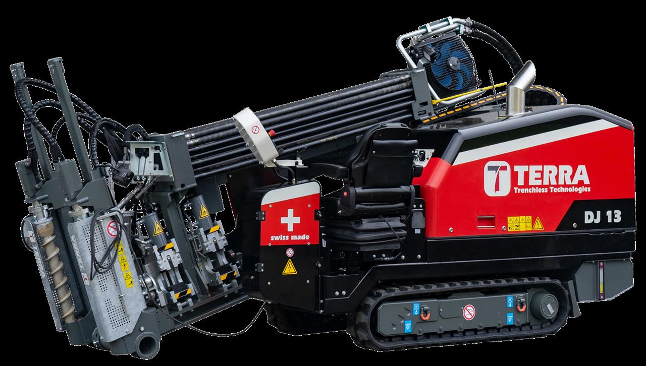 HDD Spülbohranlage TERRA-JET DJ 13, klein und kompakt, 6 Tonnen Bohranlage