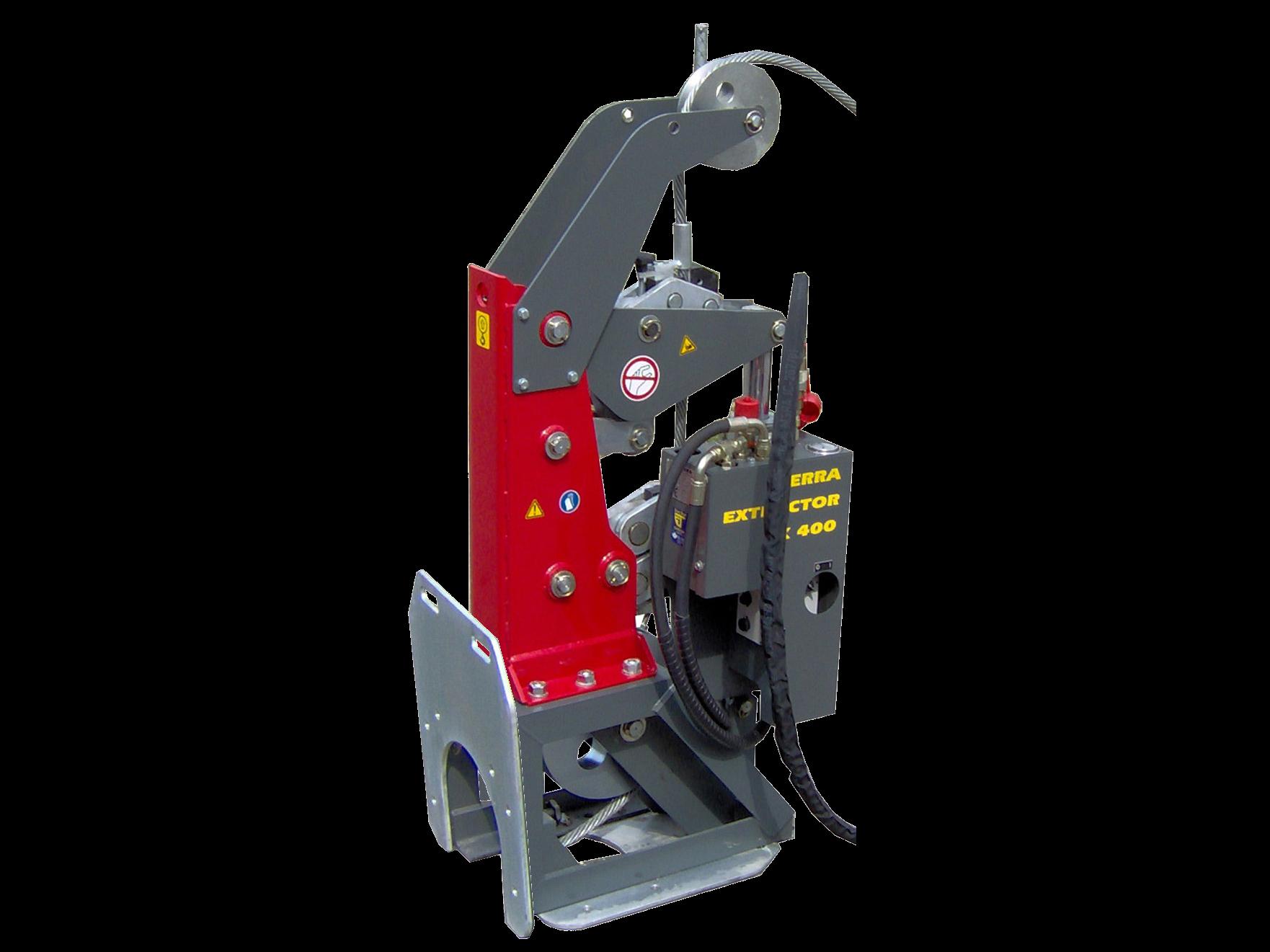 Seilberstanlage (english: cableburster) TERRA EXTRACTOR X 400